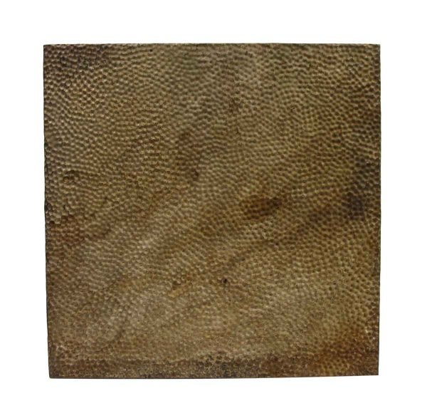 Tin Panels - Textured Dark Brown Antique Tin Ceiling Panel