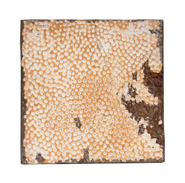 Tin Panels - Textured Orange & White Antique Tin Panel