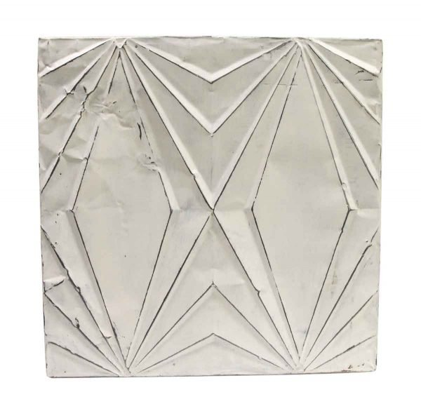 Tin Panels - White Art Deco Style Antique Tin Ceiling Panel
