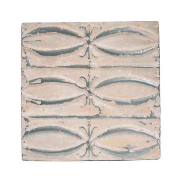 Tin Panels - White Fish Pattern Antique Tin Panel