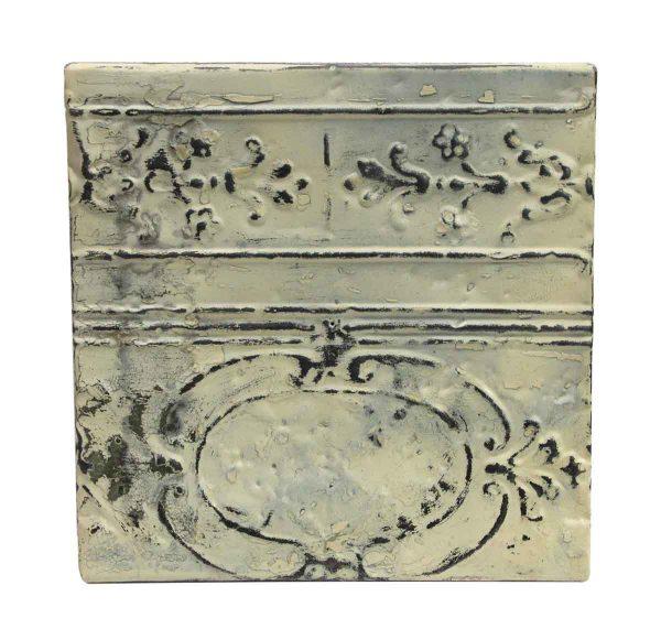 Tin Panels - White Ornate Border Antique Tin Panel