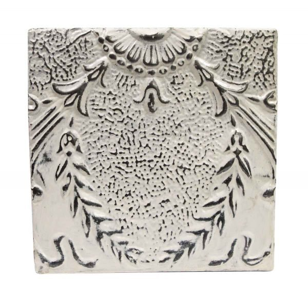 Tin Panels - White & Silver Wing Antique Tin Ceiling Panel