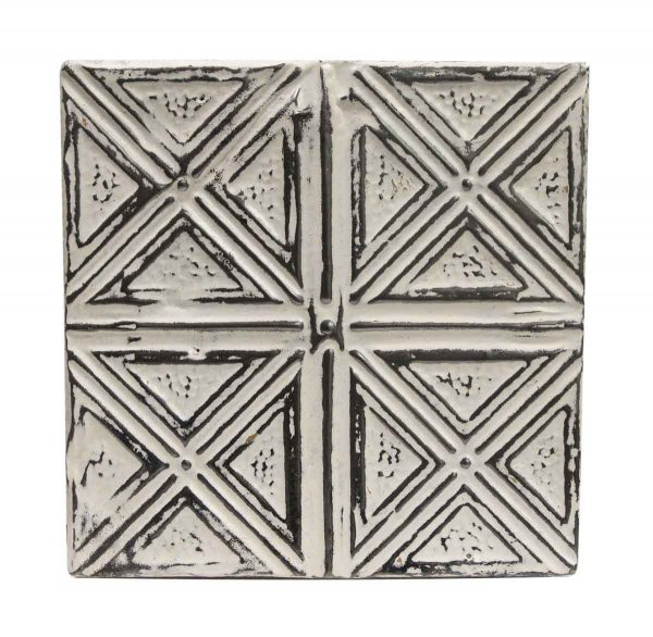 Tin Panels - White X Four Fold Antique Tin Ceiling Panel