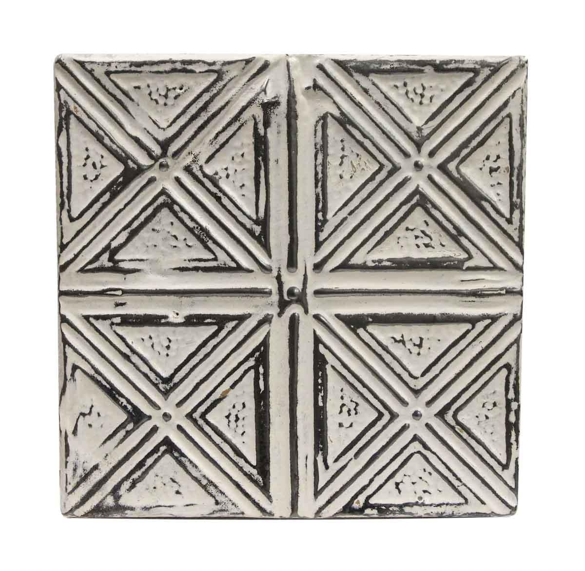 Tin Panels White X Four Fold Antique Ceiling Panel