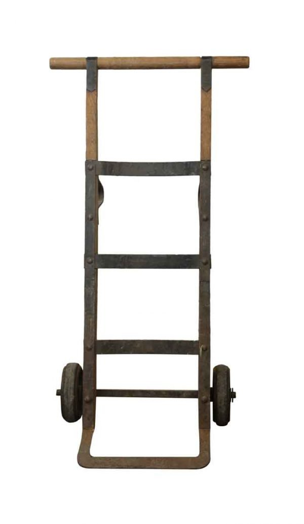 Tools - Grandfather's Wood and Steel Hand Cart with Cast Iron Wheels
