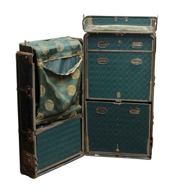 Trunks - Vintage Black Hartmann Travel Trunk