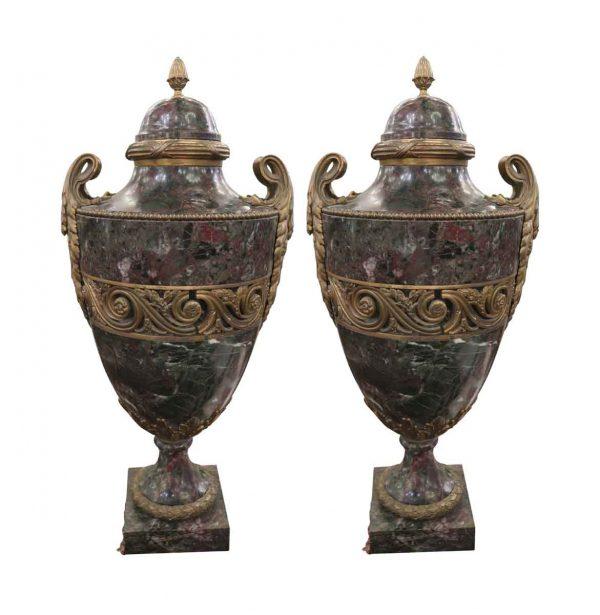 Vases & Urns - Salvaged Waldorf Conrad Suite Urns