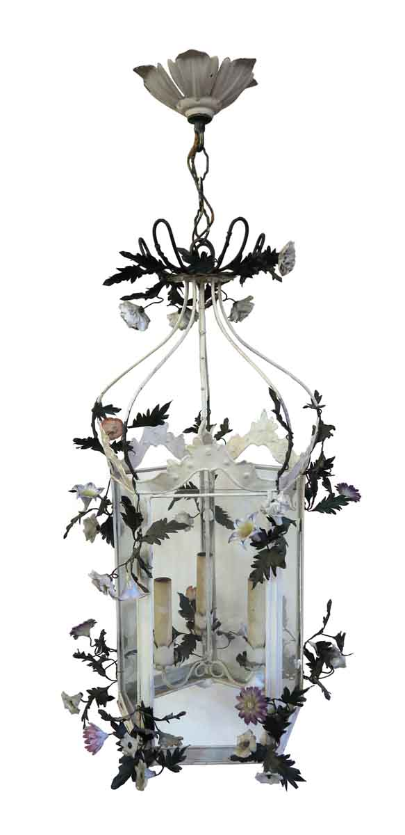 Wall & Ceiling Lanterns - 1920s French Made Floral Lantern