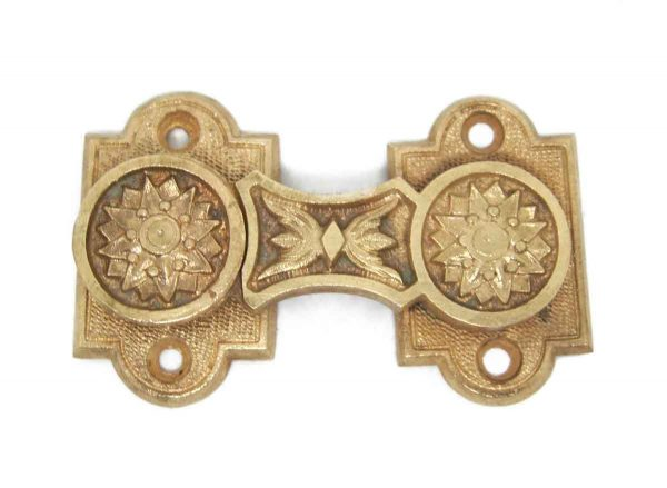 Window Hardware - Ornate Bronze Floral Shutter Latch
