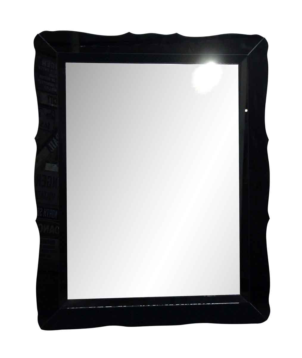 Oversized Vintage Black Mirror with Glass Frame | Olde Good Things