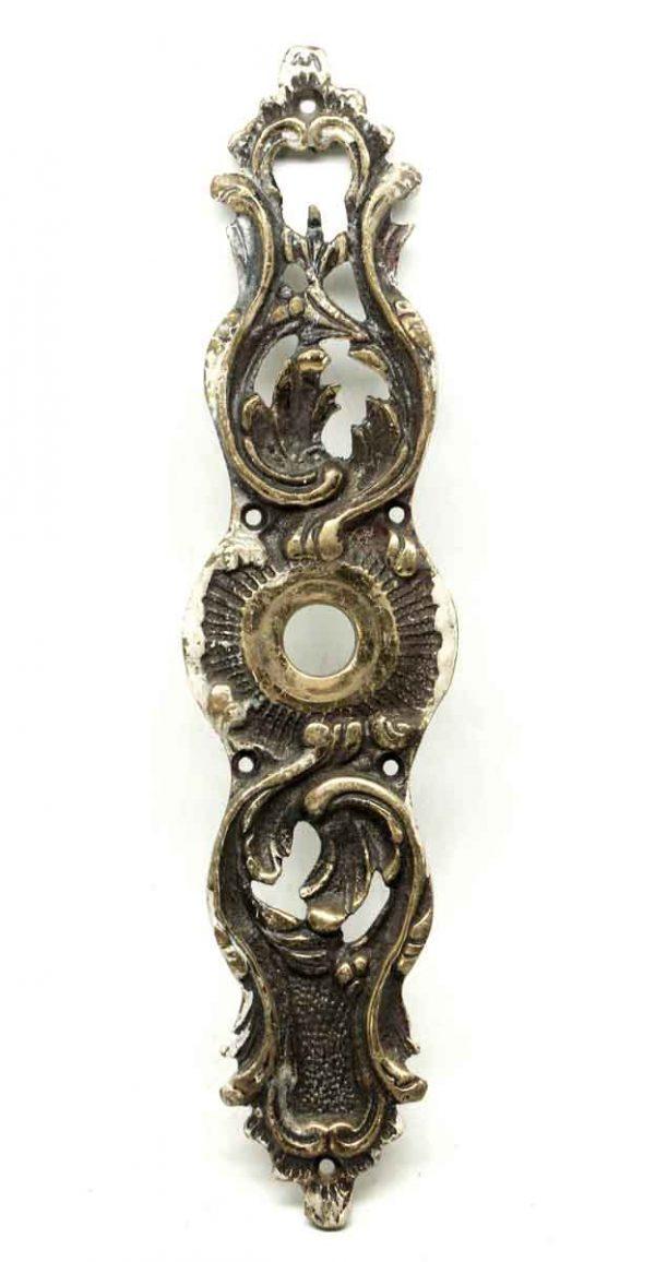 Back Plates - Antique Art Nouveau Bronze Back Plate with Keyhole