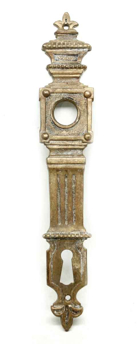 Back Plates - Antique French Bronze Back Plate with Keyhole