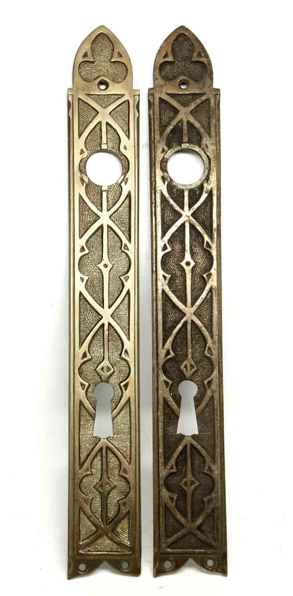 Back Plates - Antique Gothic Door Plate Set