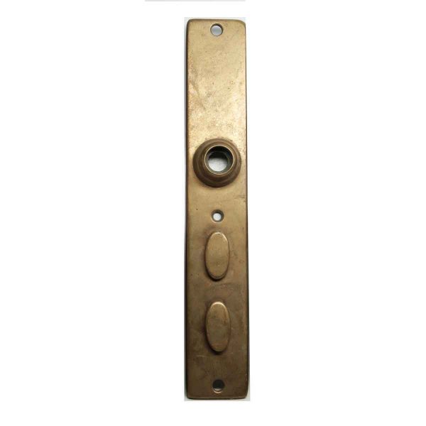 Back Plates - Brass Back Plate with Double Keyholes