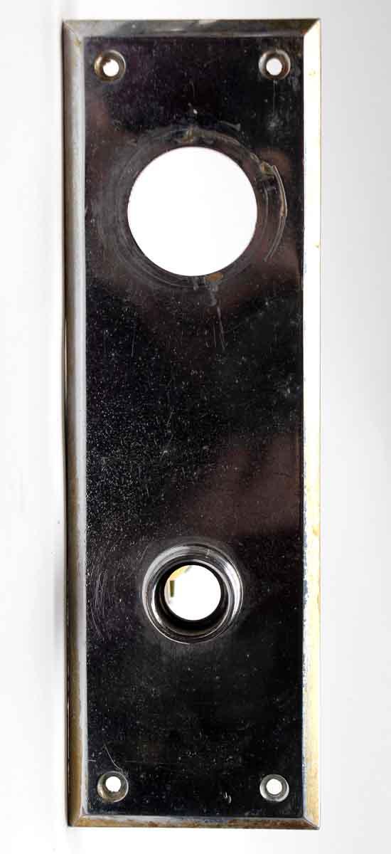 Back Plates - Chrome Vintage Entry Door Back Plate