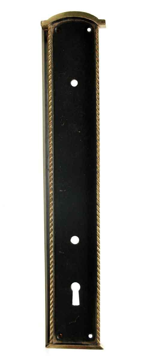 Back Plates - Vintage Black & Gold Door Handle Back Plate