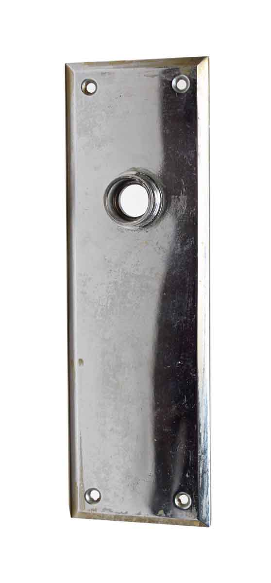 Back Plates - Vintage Chrome Simple Door Back Plate