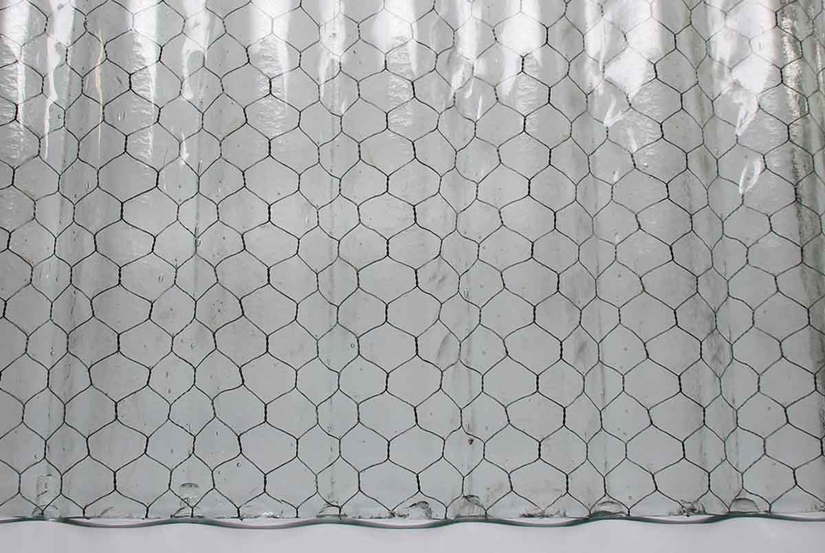 Corrugated Fire Resistant Clear Colored Chicken Wire Glass | Olde ...