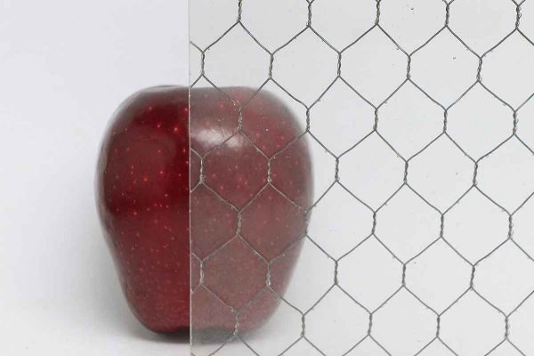 Chicken Wire Glass - Clear Vintage Chicken Wire Glass