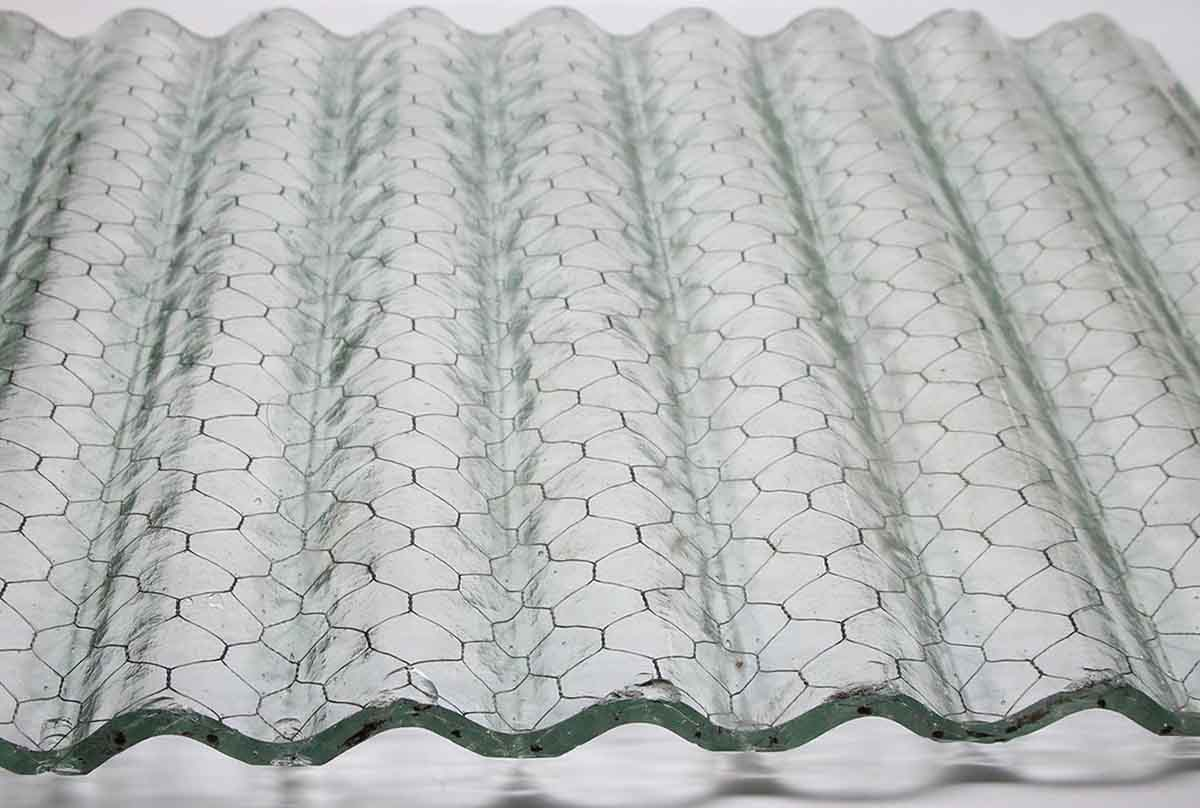 Corrugated Fire Resistant Clear Colored Chicken Wire Glass ...