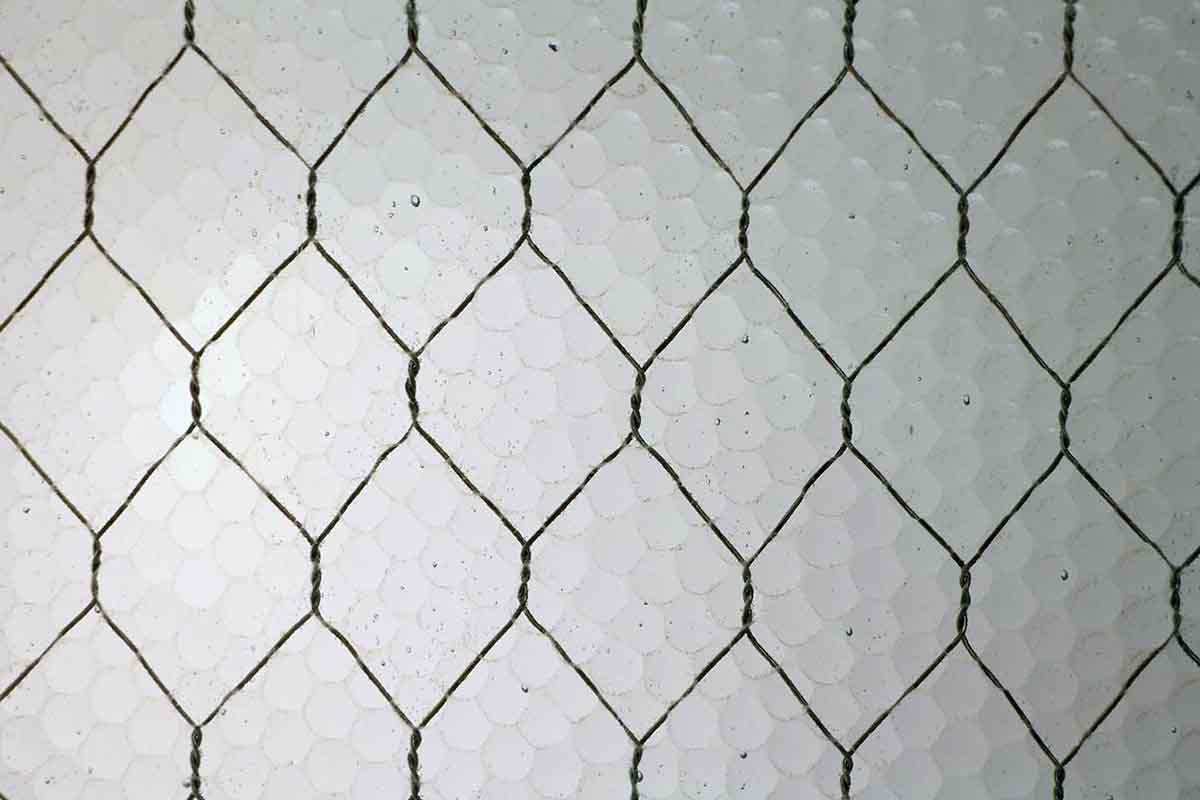Antique Pebbled Vintage Chicken Wire Glass | Olde Good Things
