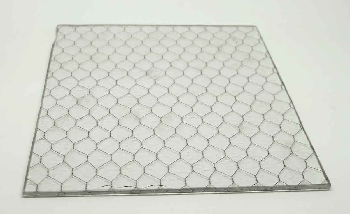 Hammered Vintage Chicken Wire Glass | Olde Good Things