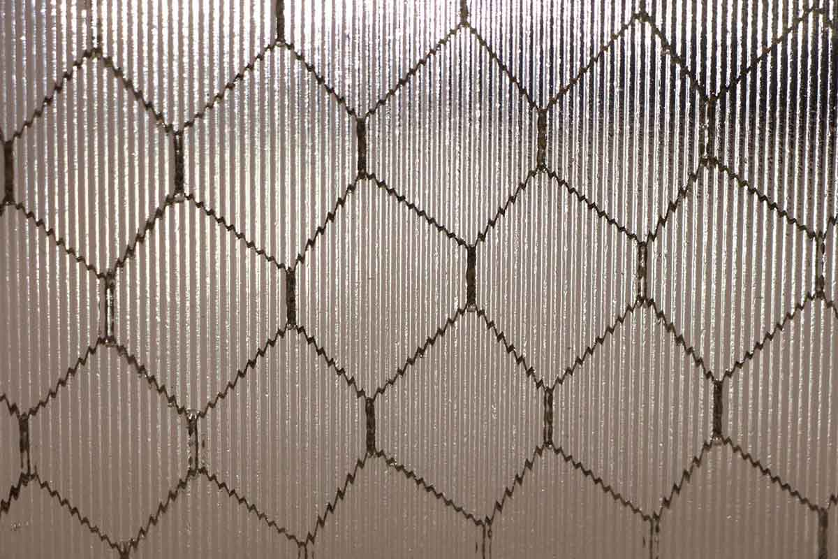 Ribbed Texture Vintage Chicken Wire Glass | Olde Good Things