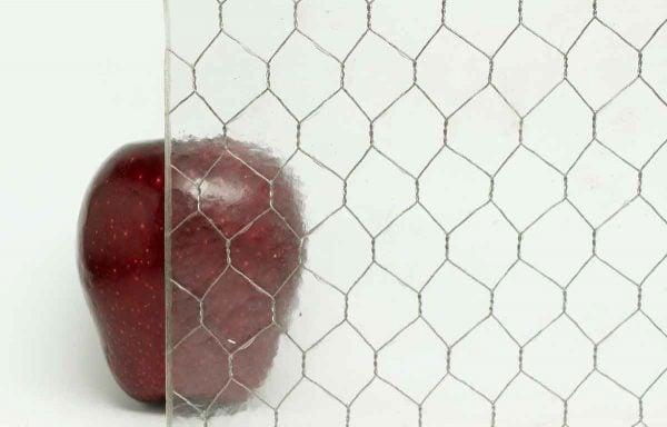 Chicken Wire Glass - Hammered Vintage Chicken Wire Glass