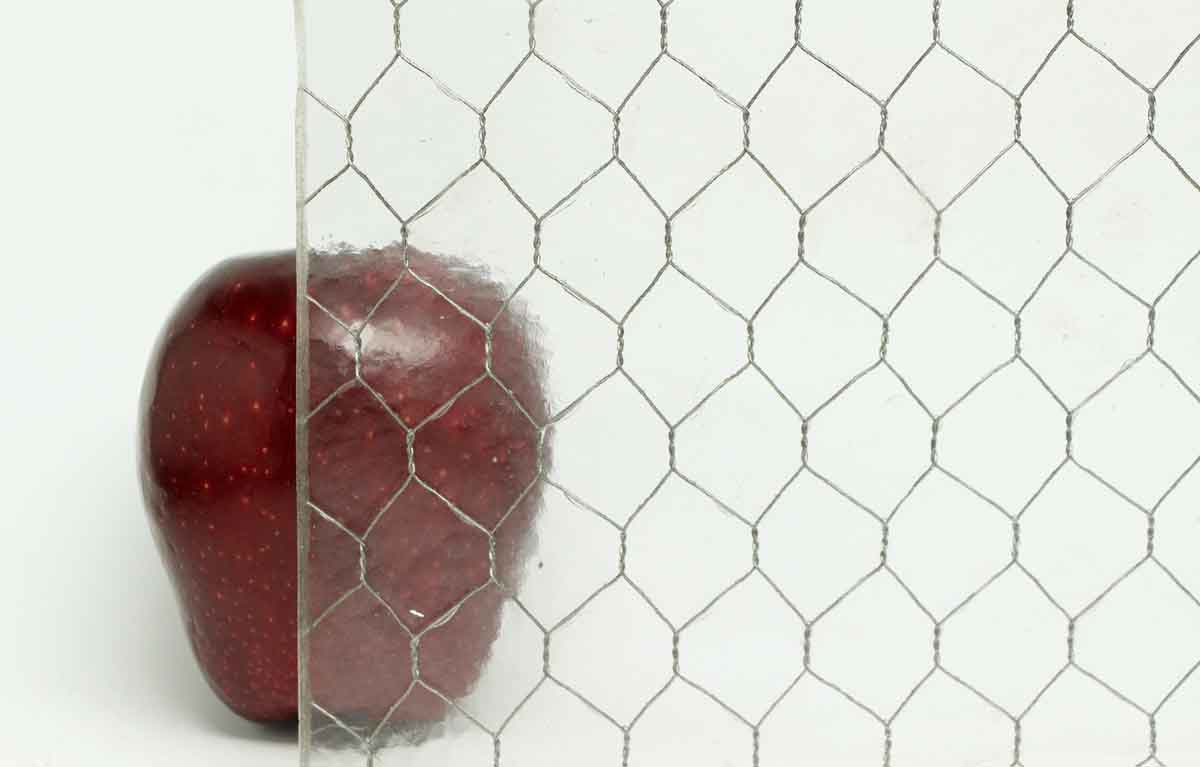 Hammered Vintage Chicken Wire Glass Olde Good Things
