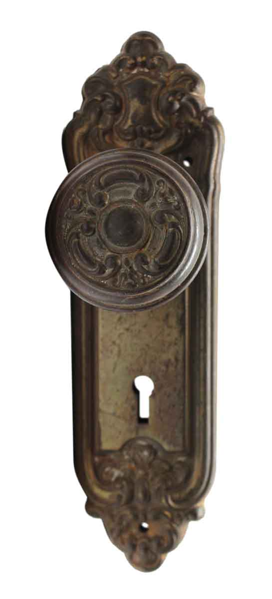 Door Knob Sets - Antique Sargent French Haven Door Knob Set