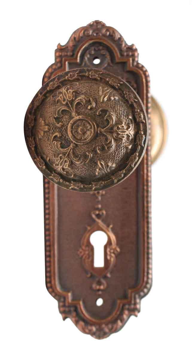 Antique bronze door knobs French Country Door Door Knob Sets Antique Taylor Boggis Bronze Door Knob Set Homestead Hardware Antique Taylor Boggis Bronze Door Knob Set Olde Good Things