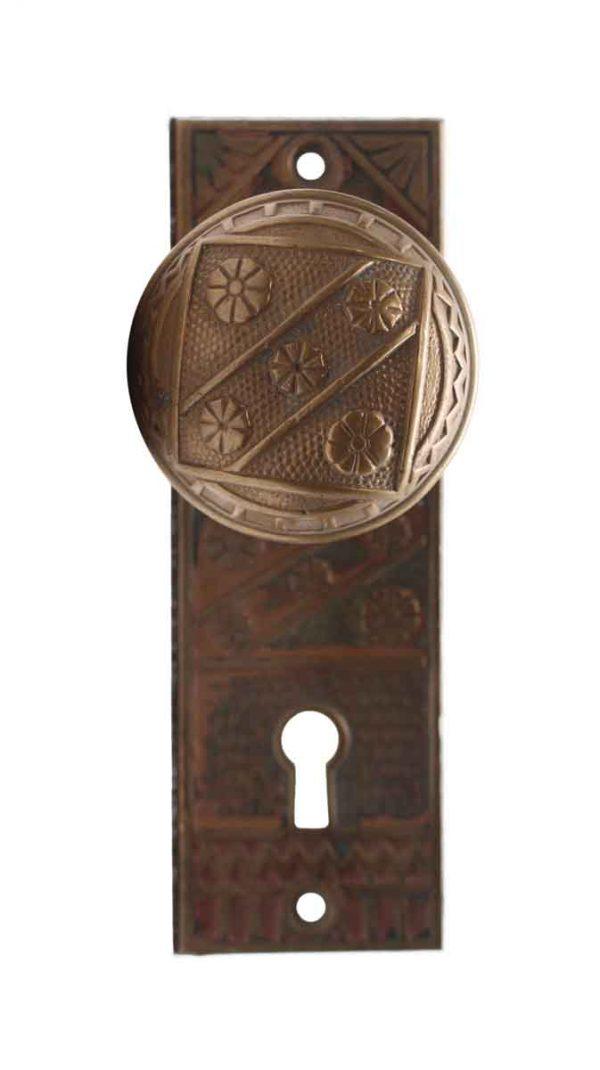 Door Knob Sets - Single Vernacular Door Knob & Closet Latch with Back Plate