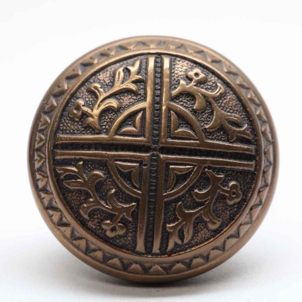 Door Knobs - Antique Bronze 4 Fold Vernacular Door Knob