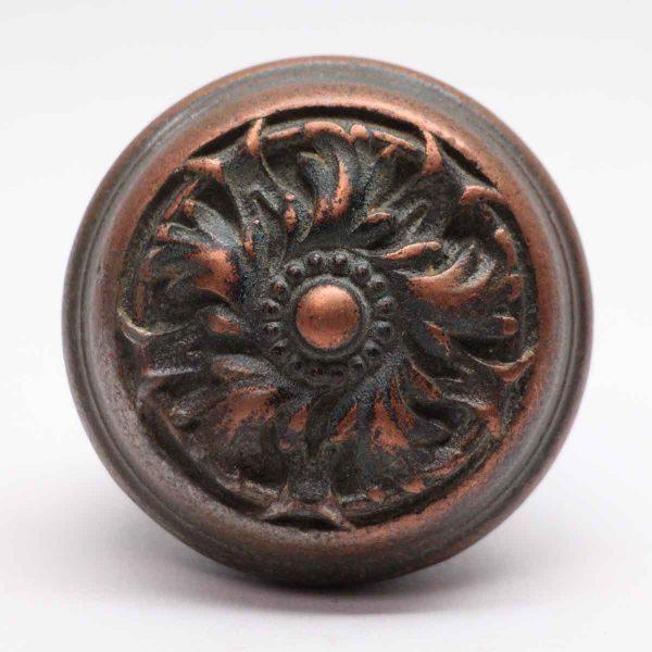 Door Knobs - Antique Cast Iron Beaded Swirl Door Knob