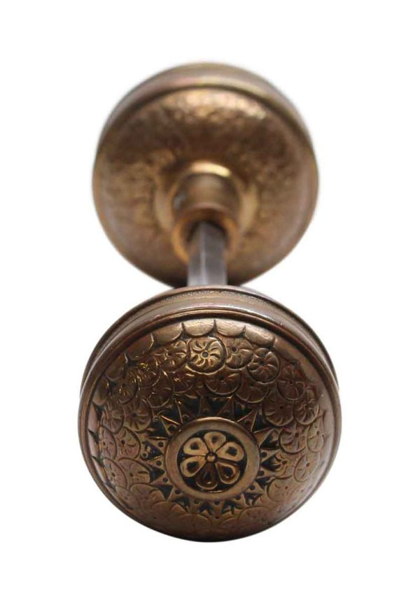 Door Knobs - Antique Corbin Brocade Door Knob Entry Set