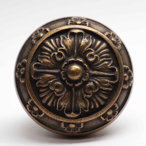 Door Knobs - Antique Lockwood 4 Fold Bronze 1895 Door Knob