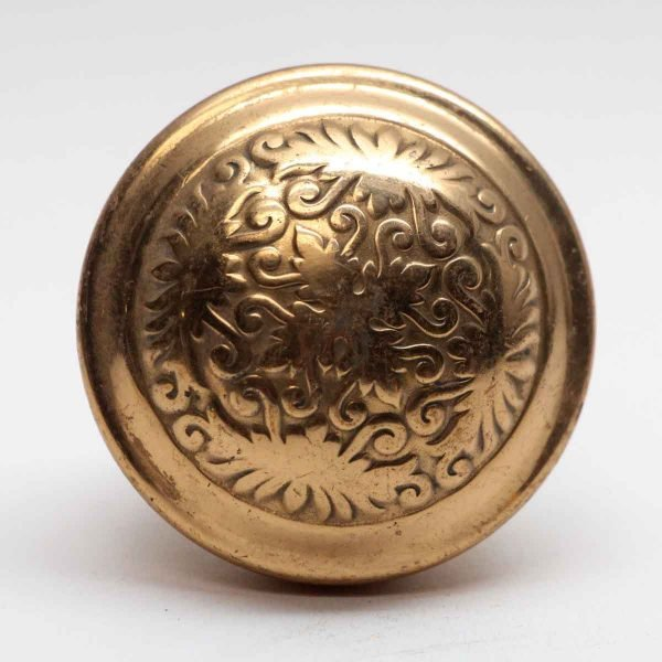 Door Knobs - Antique Polished Brass Reading Door Knob