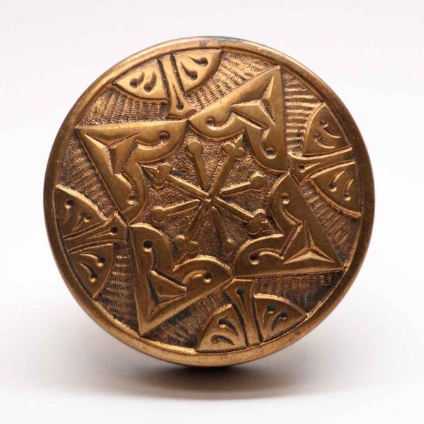 Door Knobs - Antique Polished Bronze 4 Fold Door Knob