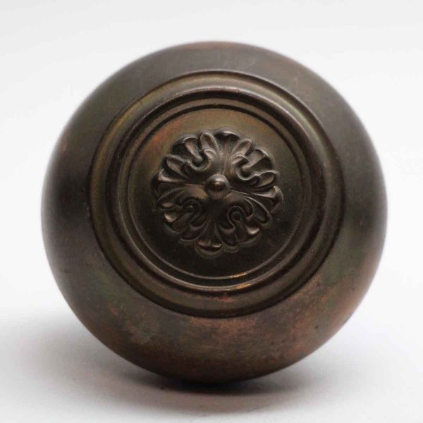 Door Knobs - Antique Russell & Erwin Brass Floral Door Knob