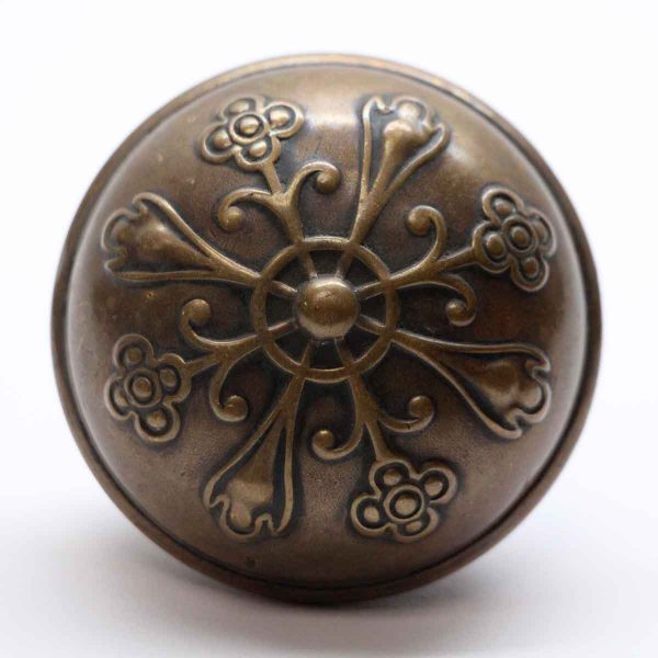 Door Knobs - Bronze 4 Fold Norwalk Vernacular Antique Door Knob