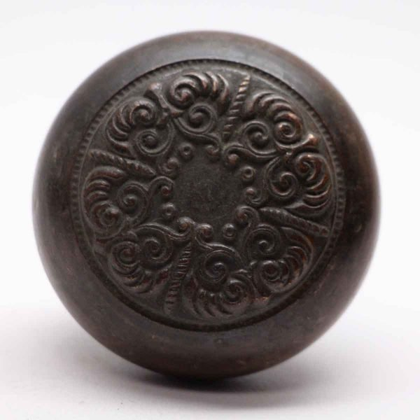 Door Knobs - Lockwood 4 Fold Door Knob with Dark Patina