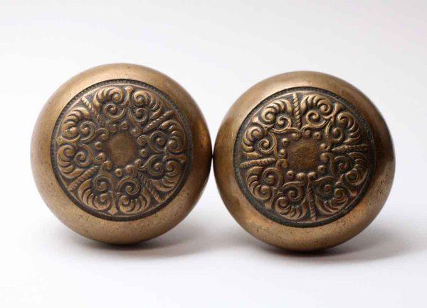 Door Knobs - Lockwood Brass 4 Fold Antique Door Knob Set