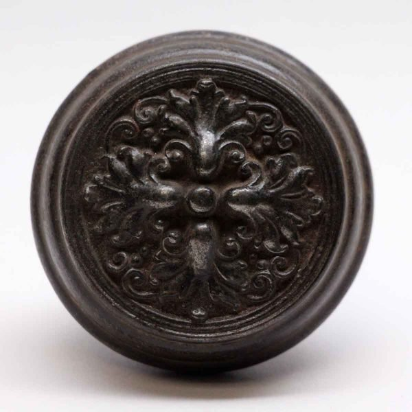 Door Knobs - Louis XIV Sargent Cast Iron Black 4 Fold Door Knob