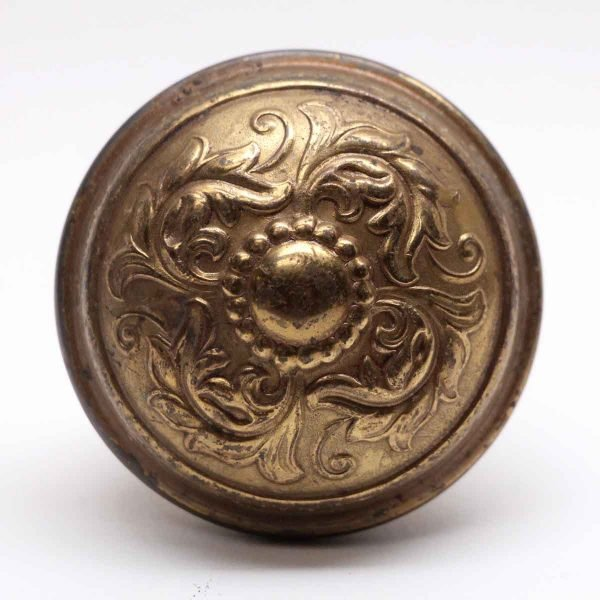 Door Knobs - Penn Hardware Polished Brass 4 Fold Antique Door Knob