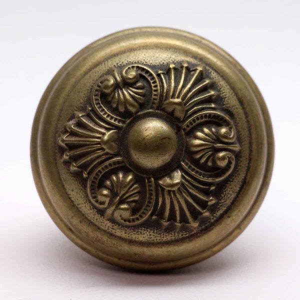 Door Knobs - Sargent Three Fold Greek Brass Door Knob