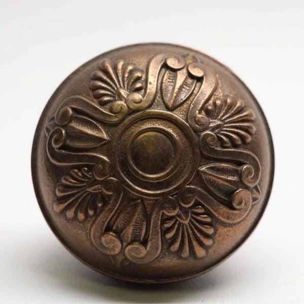 Door Knobs - Yale & Towne Cast Brass Greek Door Knob