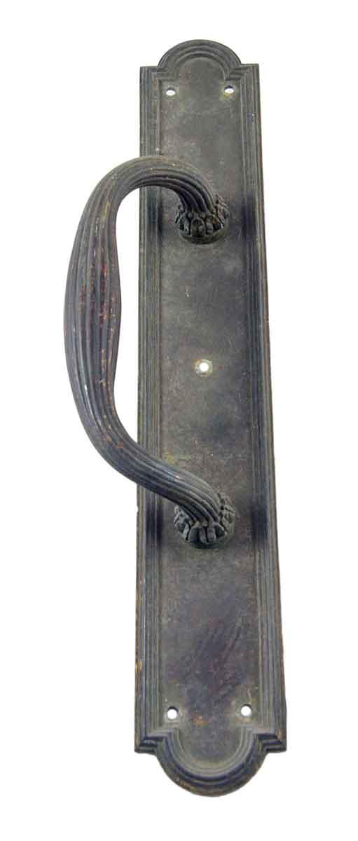 Door Pulls - Antique Cast Bronze Art Deco Door Pull