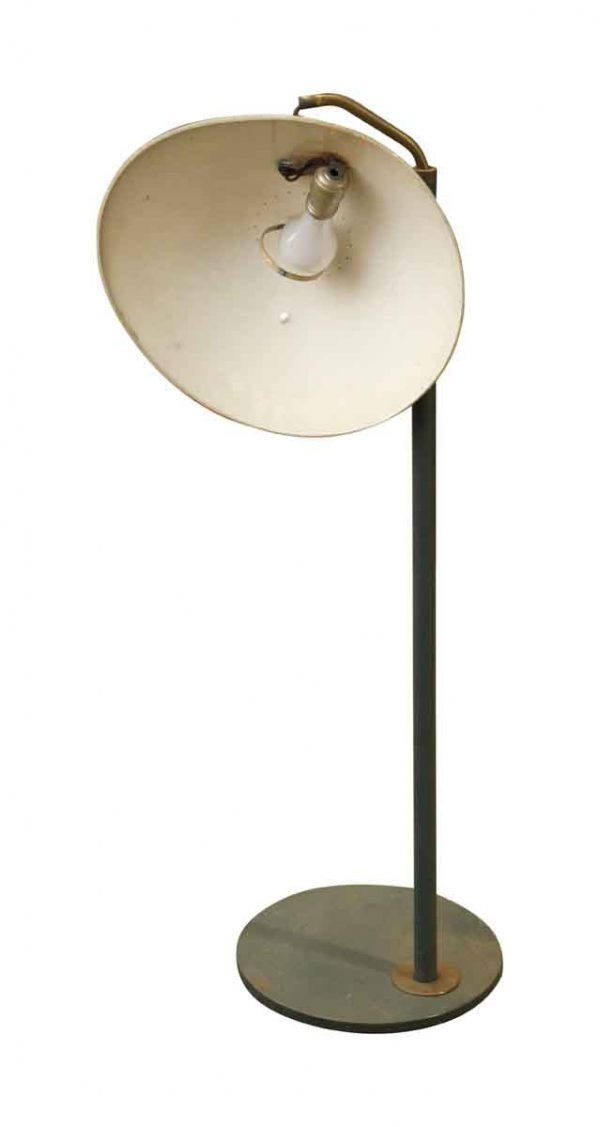 Floor Lamps - Vintage Standing Lamp with Wide Shade