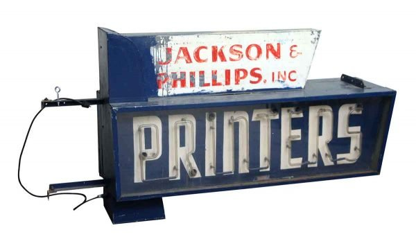 Industrial - Jackson & Phillips Printers Building Sign