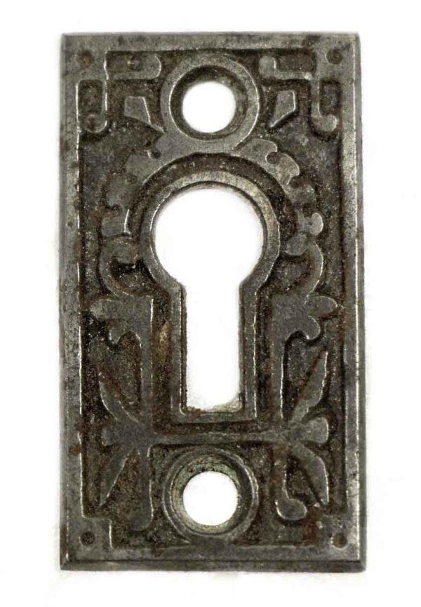 Keyhole Covers - Antique Iron Eastlake Key Hole Cover